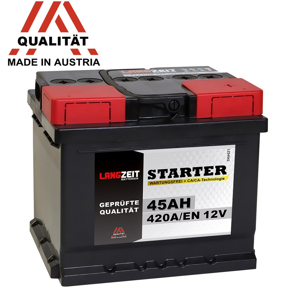 105Ah Autobatterie Starterbatterie LANGZEIT Starter Serie 12V 44Ah KFZ PKW Batterie 63Ah