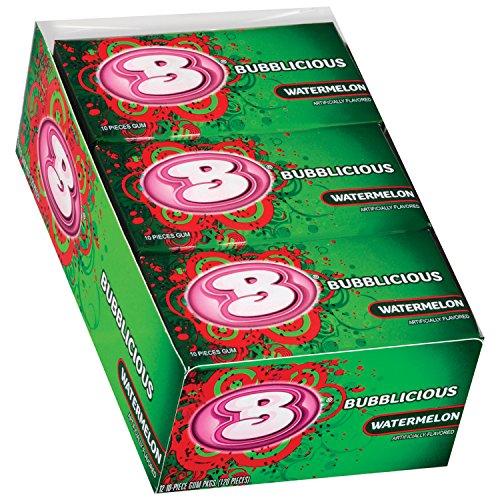 (Bubblicious Bubble Gum, (Watermelon, 12 Ten-Count Packs))