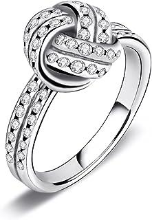 Twenty Plus Sparkling Love Knot Weave Finger Ring For Women & Girls Promise Ring Fashion Jewelry
