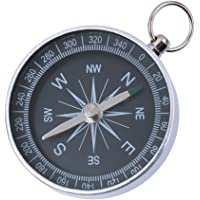 Aluminum Pocket Silver Watch Style Outdoor Hiking Camping Navigation Compass Ring Keychain
