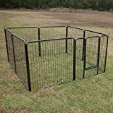 Flyline 32″ Height 8 Panels Dog Playpen Pet Pen Run Enclosure