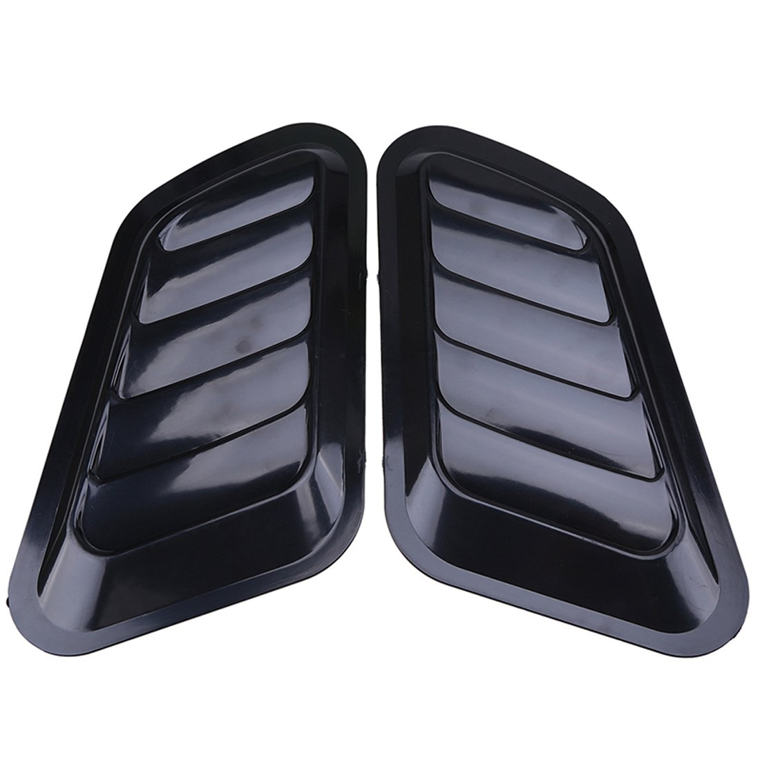 ABS auto decorativo di aspirazione scoop Turbo Bonnet Vent copertura cappuccio nero One pair RGAta