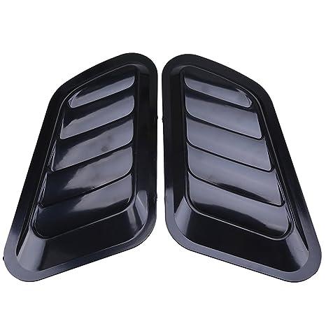 Cubiertas decorativas para la ventilación del capó, de plástico ABS de color negro y estilo