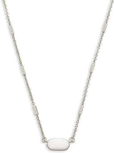 Kendra Scott Fern Pendant Necklace in Gunmetal