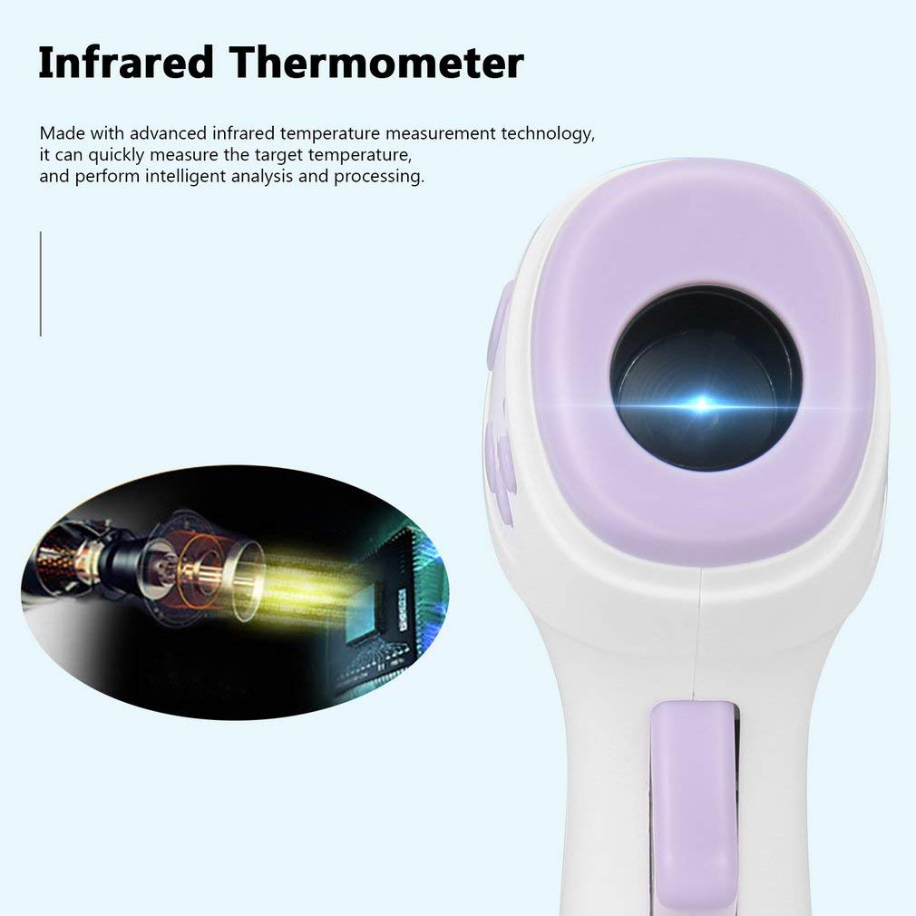 【USA Stock】 Forehead Infrared Thermometer for Kids /& Adults Accurate Instant Readings Forehead Thermometer with LCD Display High Temperature Alarm Non-Contact