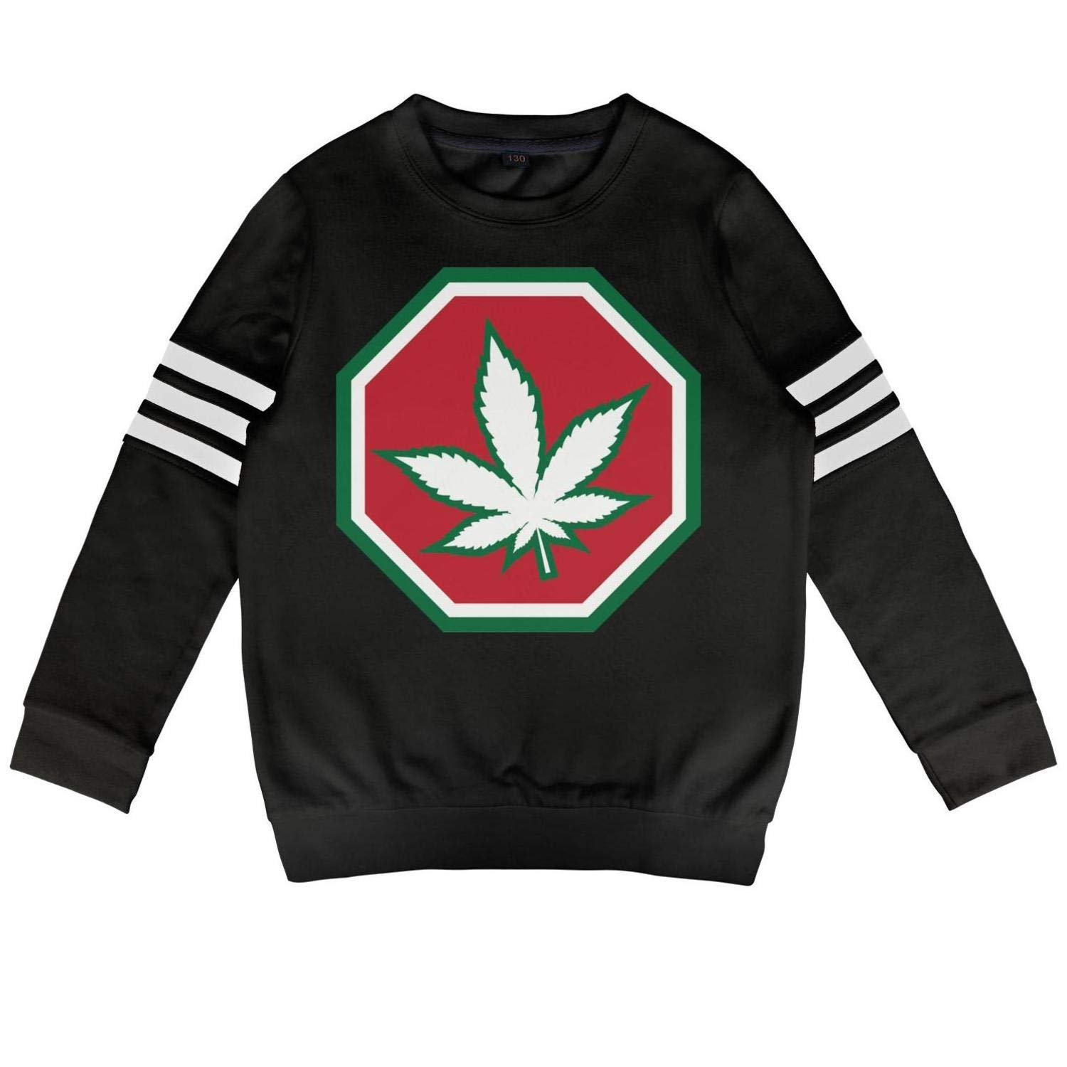 4corners Cannabis Hemp1 M(45) Daylight Toddler Crewneck Cotton Long Sleeve Sweatshirts Cannabis Warning Labels Hoody Sweatshirt for Boys and Girls