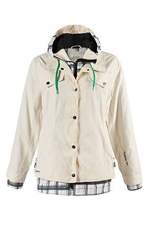 d9a22e77d9ef3e Ulla Popken Outdoorjacke Regenjacke Jacke Creme Clima tex Gr. 46/48 50/52