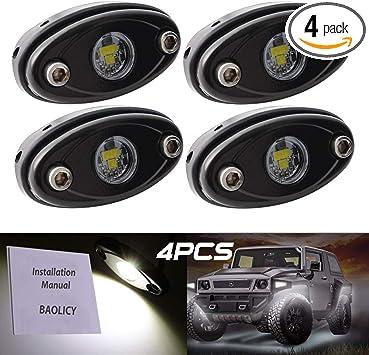 4X LED Rock Light 9W Off-Road Truck ATV SUV Trail Fender Lighting Bright Green