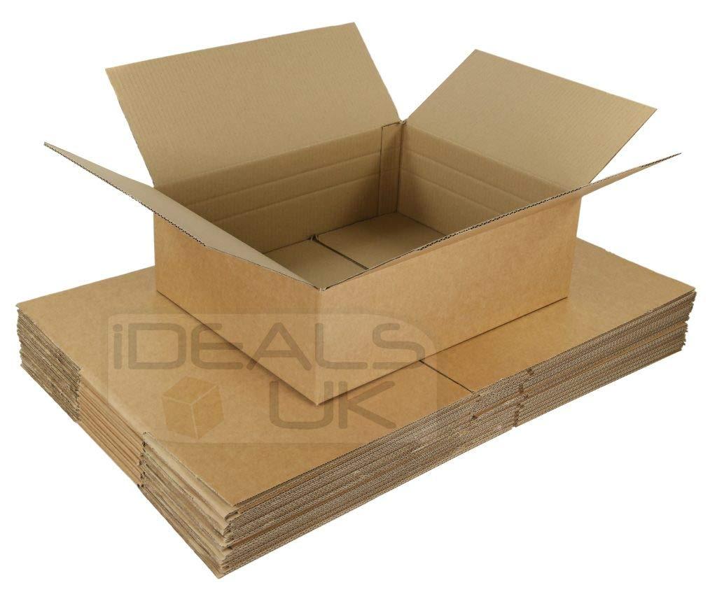 20 cajas de cartón para Correos de 450 x 350 x 160 mm, paquete con varias alturas posibles: Amazon.es: Oficina y papelería