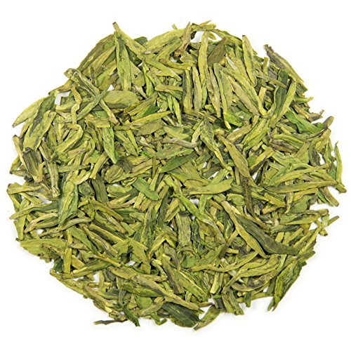 Dragon Glowingly Long Jing Loose Leaf Chinese Tea - Hong Kong Tea Company Sourced Premium AAA Grade Ultra-Great Green Tea - 4oz