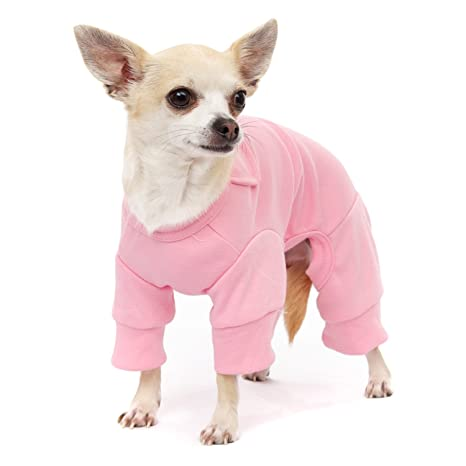 "UrbanPup Pink Bedtime Pyjamas (X-Small - Dog Body Length: 8"" /"