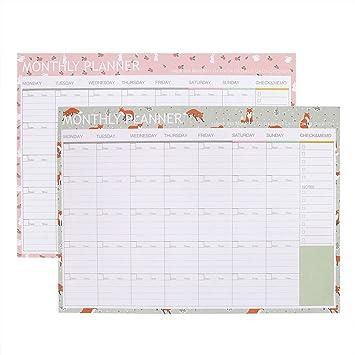 Pared Calendario/agenda (Mes 2018, pared planificador 20 ...