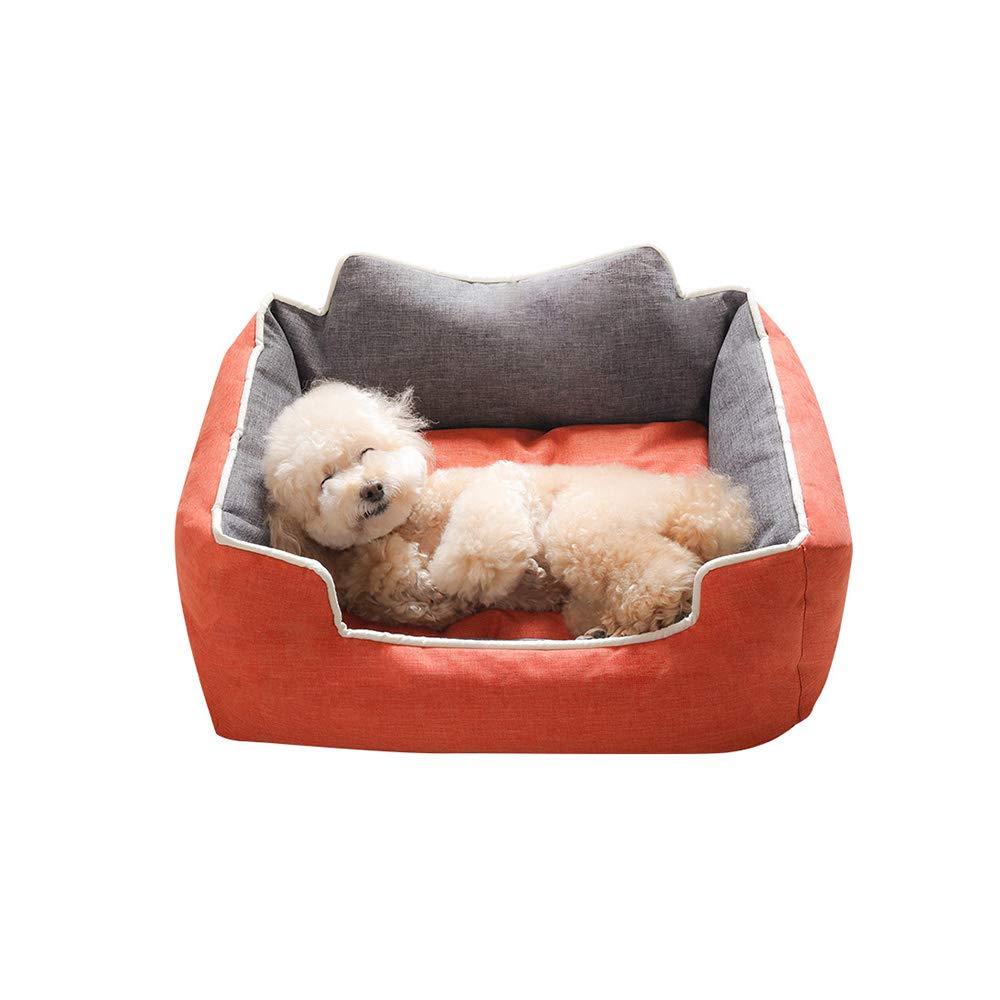 YQQ ケンネル 猫の巣 ペットベッド 睡眠パッド 冬 ペット用品 暖かく保つ 四季 (色 : Orange, サイズ さいず : M) B07M9F7HYP Orange X-Large X-Large|Orange