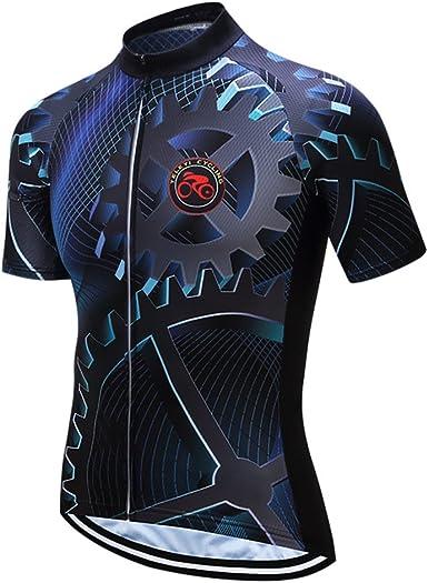 Sportswear Ciclismo Jerseys Manga Corta Ropa de bicicleta parte superior de bicicleta de los Hombres MTB Jersey Transpirable Verano: Amazon.es: Ropa y accesorios