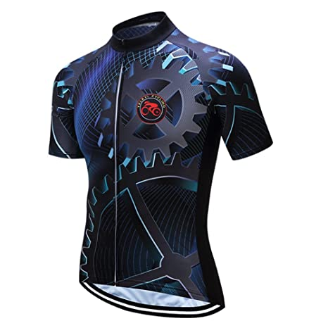 Men/'s Cycling Jerseys Clothing MTB Bike Sports Jersey Breathable Quick Dry Tops