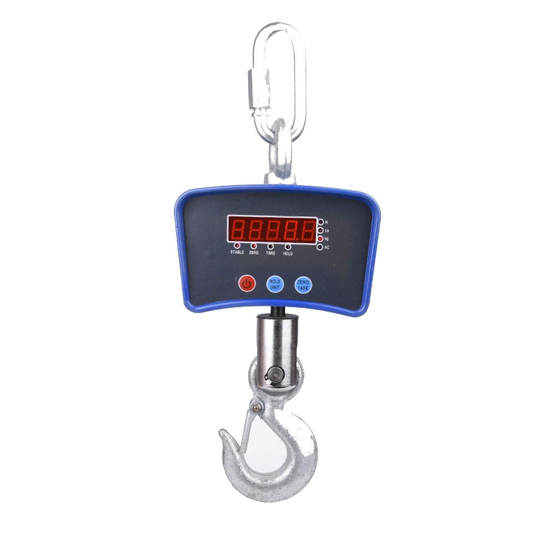 Jifnhtrs Portable Electronic Small Hanging Scale 300kg-1000kg Industrial Hanging Scale Electronic Hook Scale Portable Portable Scale 1 ton