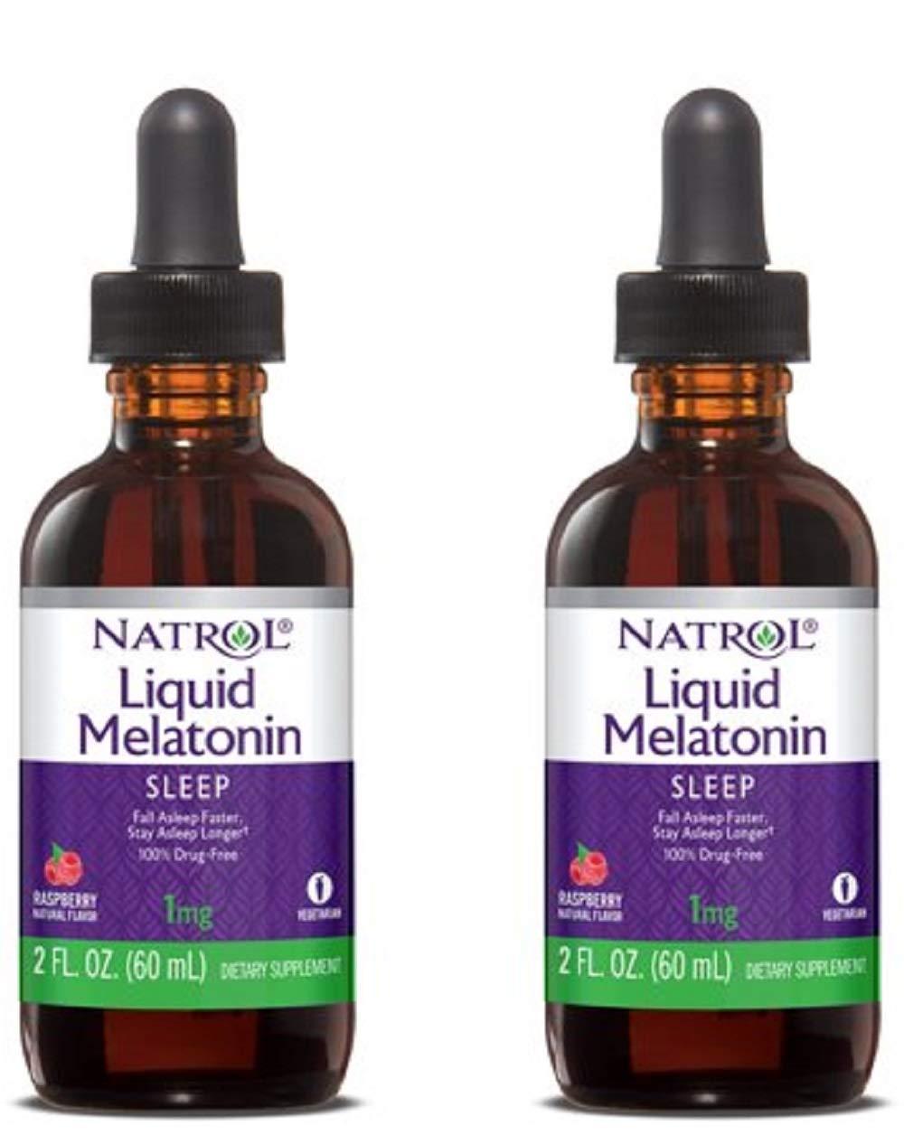 Natrol Melatonin 1 mg Liquid 2 oz (Pack of 2)