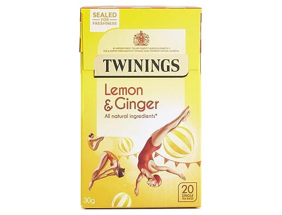 Twinings (Reino Unido) Infusión Limón & Ginger 20 bolsas de ...
