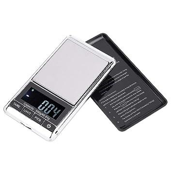 Báscula de cocina - LCD Digital Electrónica de alta precisión Báscula de cocina Sazonador de alimentos Crema Mantequilla Pesaje (Size : 300g/0.01g): ...