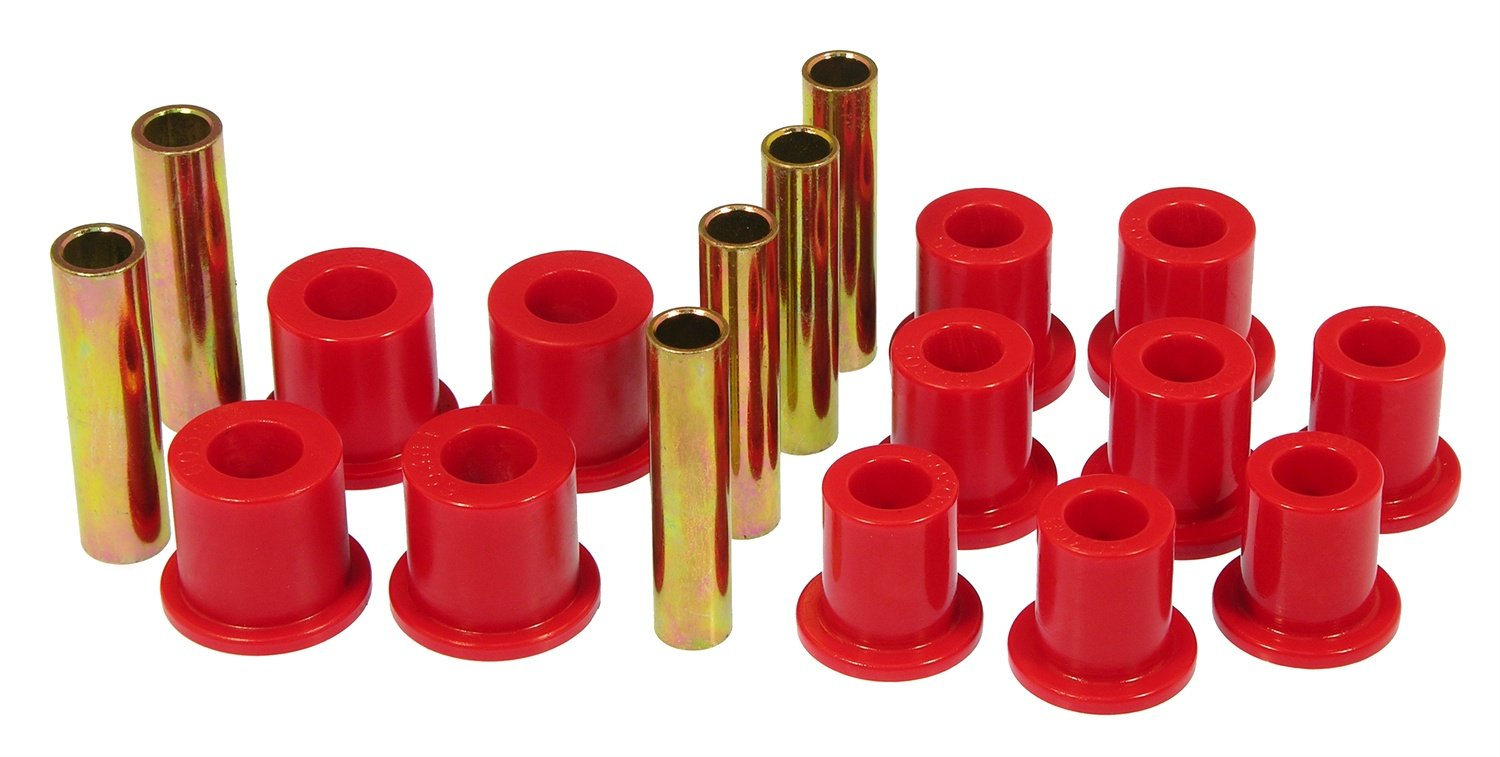Prothane 6-1011 Red Front Spring Eye and Shackle Bushing Kit