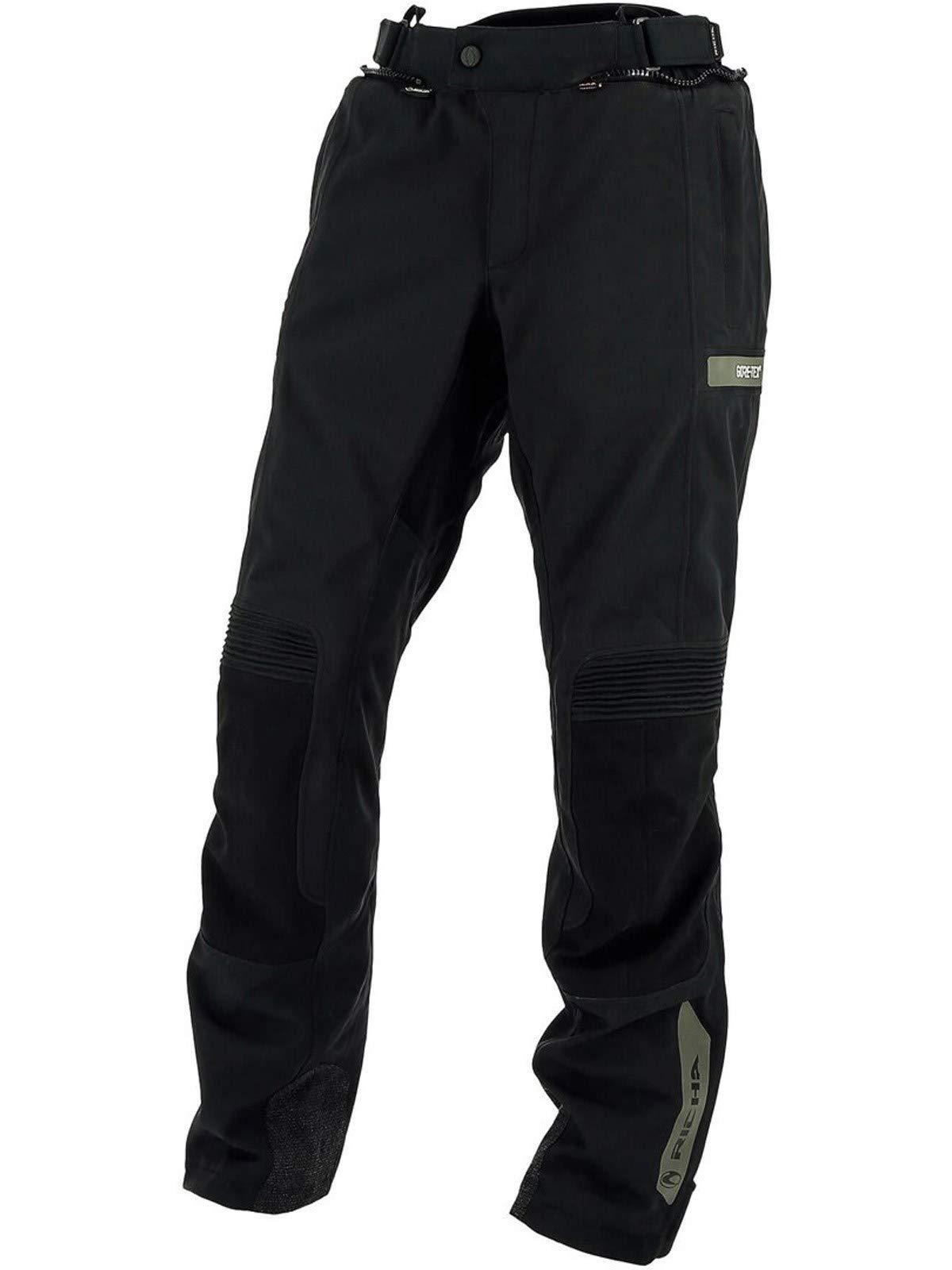 Richa Black Atlantic Gtx Short Motorcycle Waterproof Pants (L, Black)