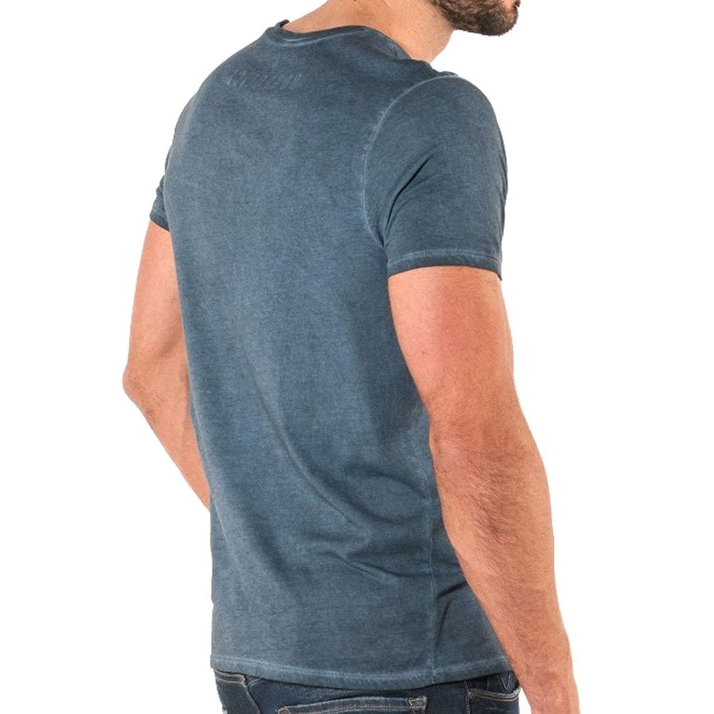 883 Police Mens Fela Stone Jersey T-Shirt Tee Top Crew Short Sleeve Cotton