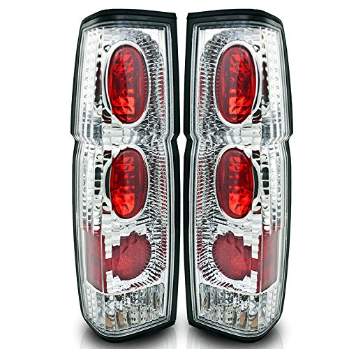 86-97 Nissan Hardbody Altezza Tail Light - Chrome / Clear (R007-C) (Pair) (Auto Parts For 1988 Nissan Pickup)