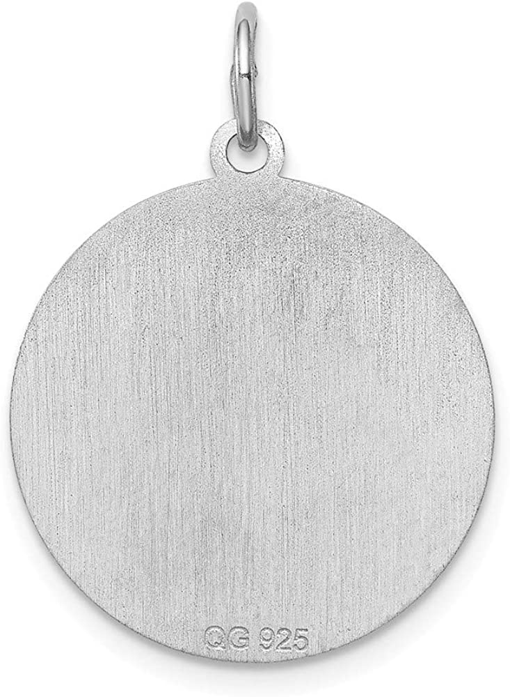 16-20 Mireval Sterling Silver Shetland Sheepdog Disc Charm on a Sterling Silver Chain Necklace
