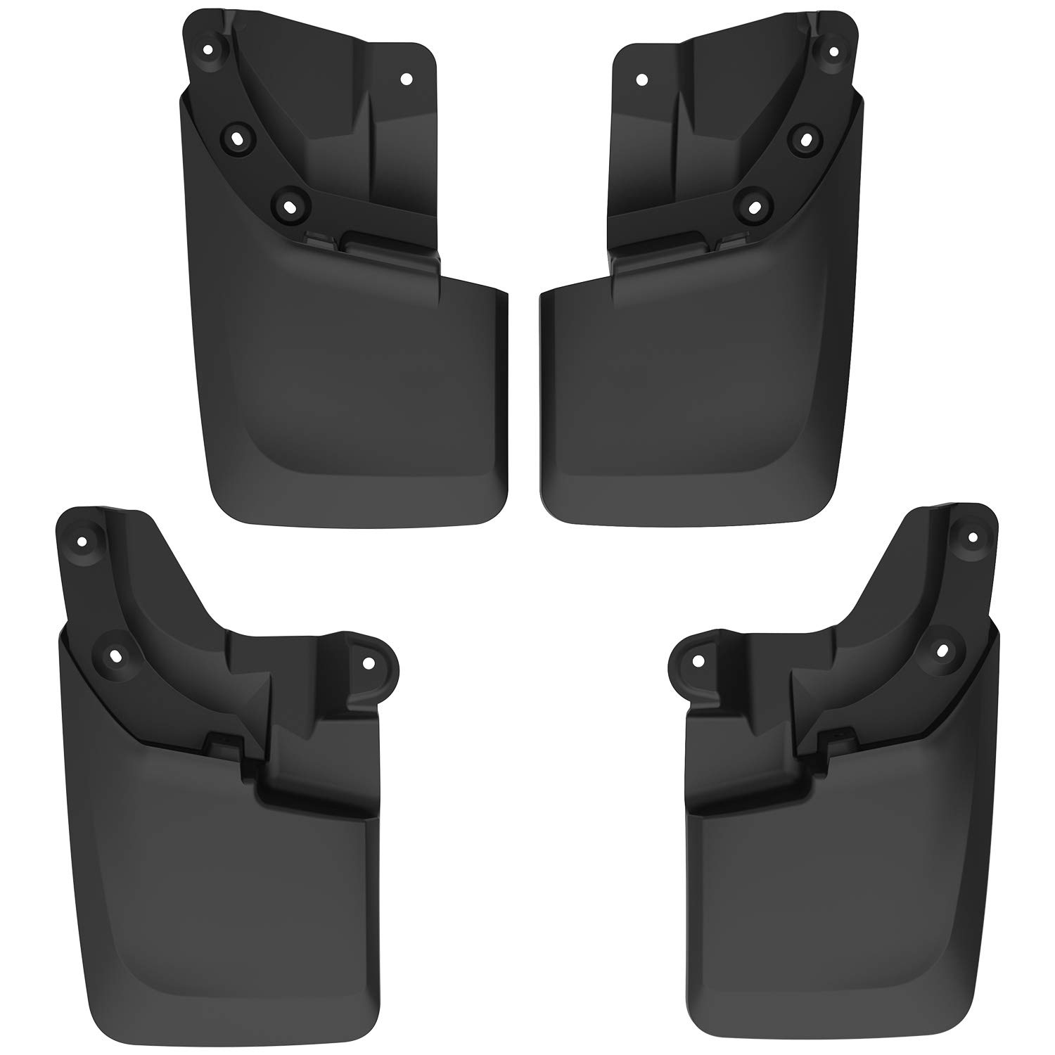 with OEM Fender Flares ONLY oEdRo Mud Guards Compatible with 2016-2018 Toyota Tacoma Front /& Rear Mud Flaps
