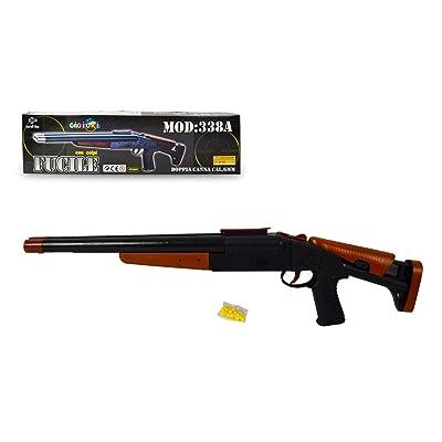 033834 Escopeta de cañón doble CIGIOKI de 6 mm con bolas incluidas: Juguetes y juegos