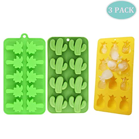Amazon.com: Cactus - Juego de 3 bandejas para cubitos de ...