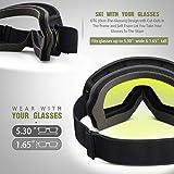 OutdoorMaster OTG Ski Goggles - Over Glasses Ski
