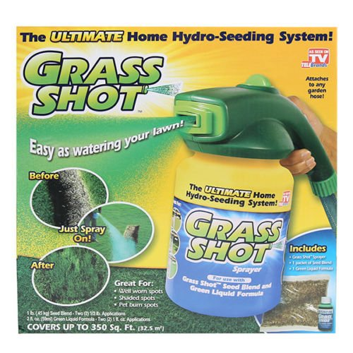 (The Ultimate Home Hydro Seeding System Liquid Spray Seed Lawn Care Grass Shot)