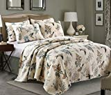 queen quilt birds - HNNSI Flying Birds Printing Queen Comforter Coverlet Sets 3 Piece, Comfy Cotton Home Collections Bedspread Quilt Bedding Sets