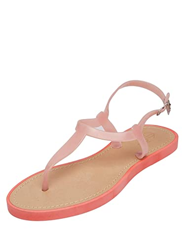 8206abe48 Yes Brand Co. Casual Comfort Neon Flat Sandals for Women   Girls ...