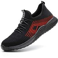SUADEEX Zapatos de Seguridad Hombre S3 Transpirable Zapatos de Seguridad Mujer Ligeras con Puntera de Acero Zapatos de…