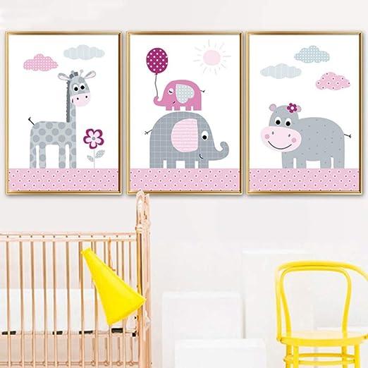Geiqianjiumai Jirafa Hipopótamo Elefante Arte de la Pared ...