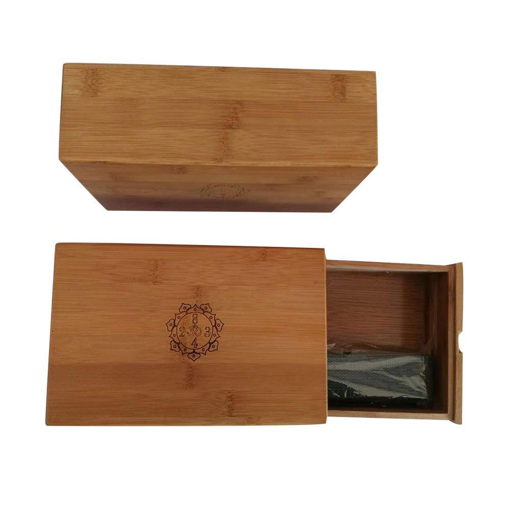 Bloque de madera para yoga, con cinturón - compartimento ...