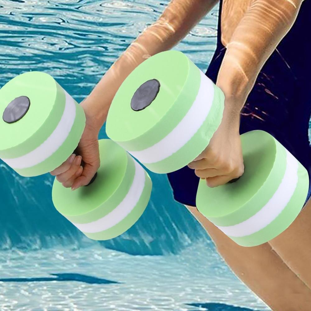 Dilwe Mancuernas de Fitness 1 par Espuma Equipos de Ejercicios Flotantes Agua para Aeróbic Acuático Entrenamiento(Verde): Amazon.es: Deportes y aire libre