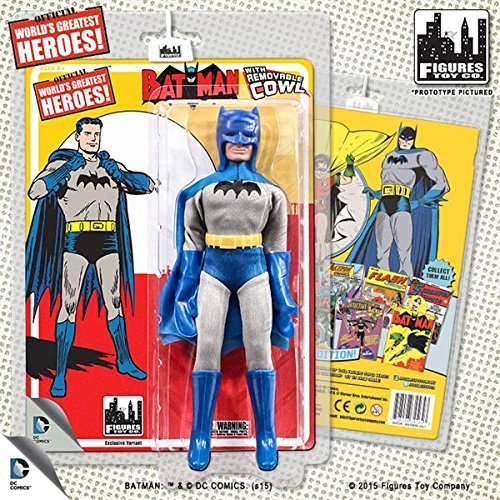 DC Comics Retro First Appearances Series 1 Removable Cowl Batman Action Figure by Figures Toy Company