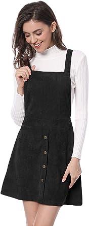 New Womens Cord Pinafore Dress Burgundy Size UK 12