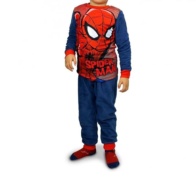 último estilo zapatos de separación diseño elegante 1732 Pijama de terciopelo para niños con motivo de Spiderman (4 a 8 años)