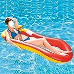 Longzhou-Lettino-da-Piscina-Galleggiante-Piscina-Singola-Gonfiabile-Galleggiante-zattera-Lounge-Sedia-Galleggiante-Giocattolo-Acqua-per-Uomo-DonnaRosso