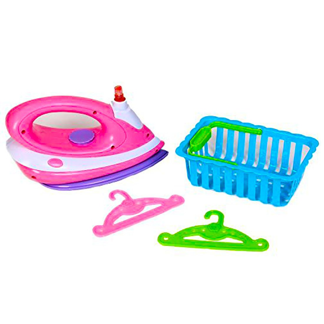 dazzling toys Toy Iron Set | Happy Family Kids Pretend Play Ironing Set Includes Ironer, Laundry Basket, and Accessories.