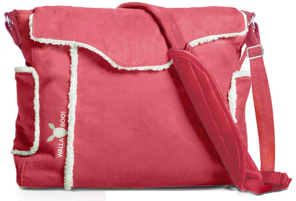 雑誌で紹介された Wallaboo Essential Diaper Bag Durable Faux Essential Suede, Suede, Warm Red Bag by Wallaboo B000WHH1DA, 自然派化粧品ナチュラルスタイル:707d822e --- hohpartnership-com.access.secure-ssl-servers.biz
