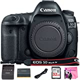 Canon EOS 5D Mark IV DSLR Full-Frame 30.4 MP Digital Camera (Body Only) with Built-in Wi-Fi, GPS & NFC + Deluxe Camera Works Accessory Bundle