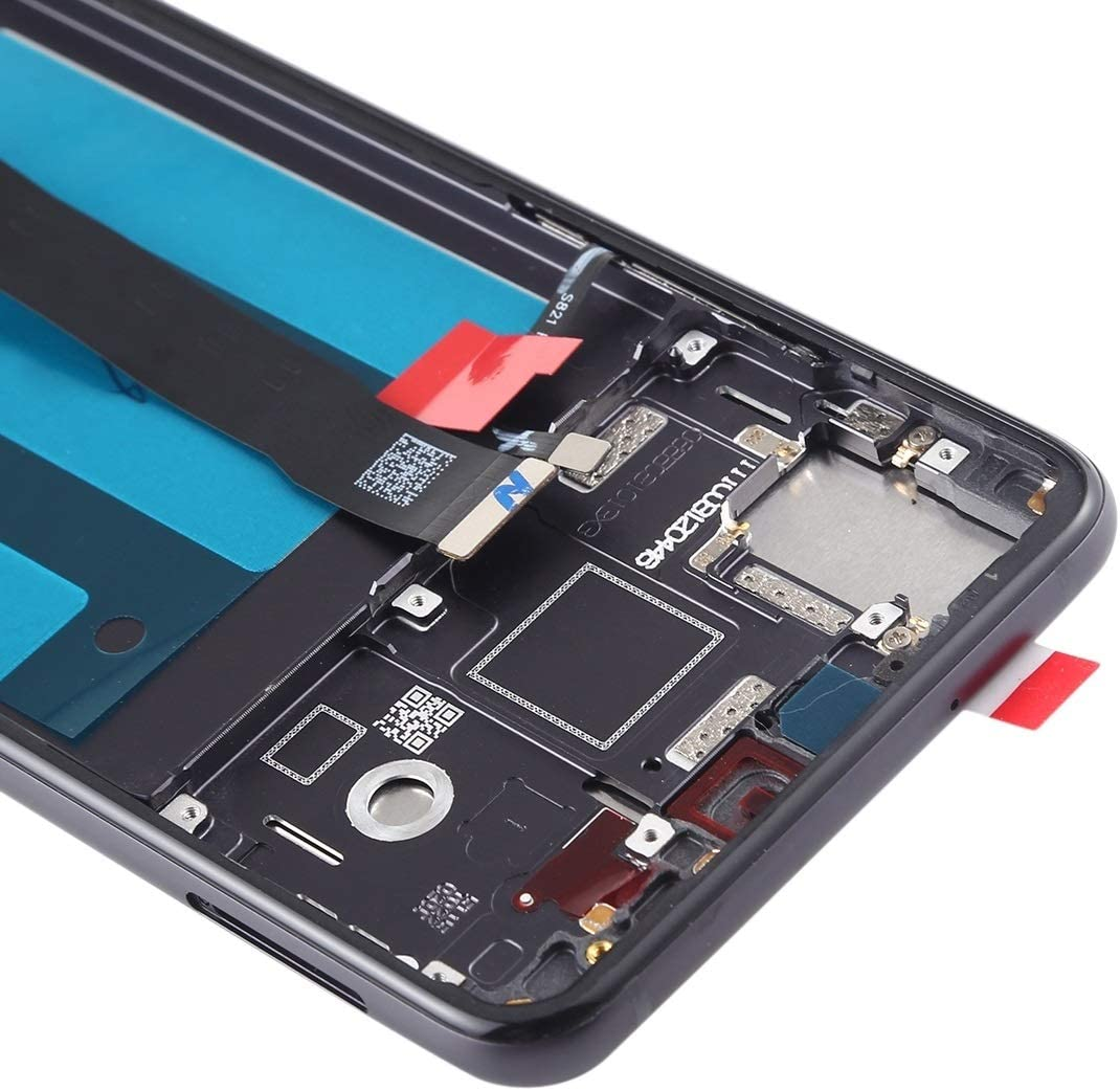 Color : Black MEETBM ZIMO,LCD Screen and Digitizer Full Assembly with Frame for Huawei P20 Black