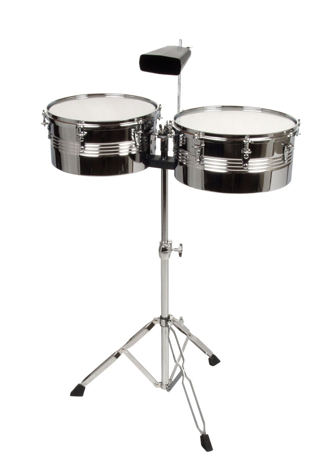 XDrum Timbales Set - 33 and 35.6 cm (13 and 14 Inches) Including Cowbell by XDrum