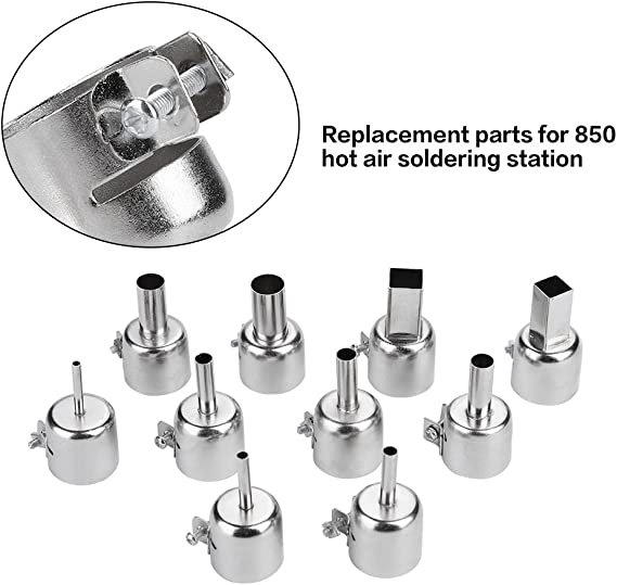 Details about  /8Pcs Stainless Steel Hot Air Gun Nozzle Heat Resisting for 850 Heat Gun 3~12mm