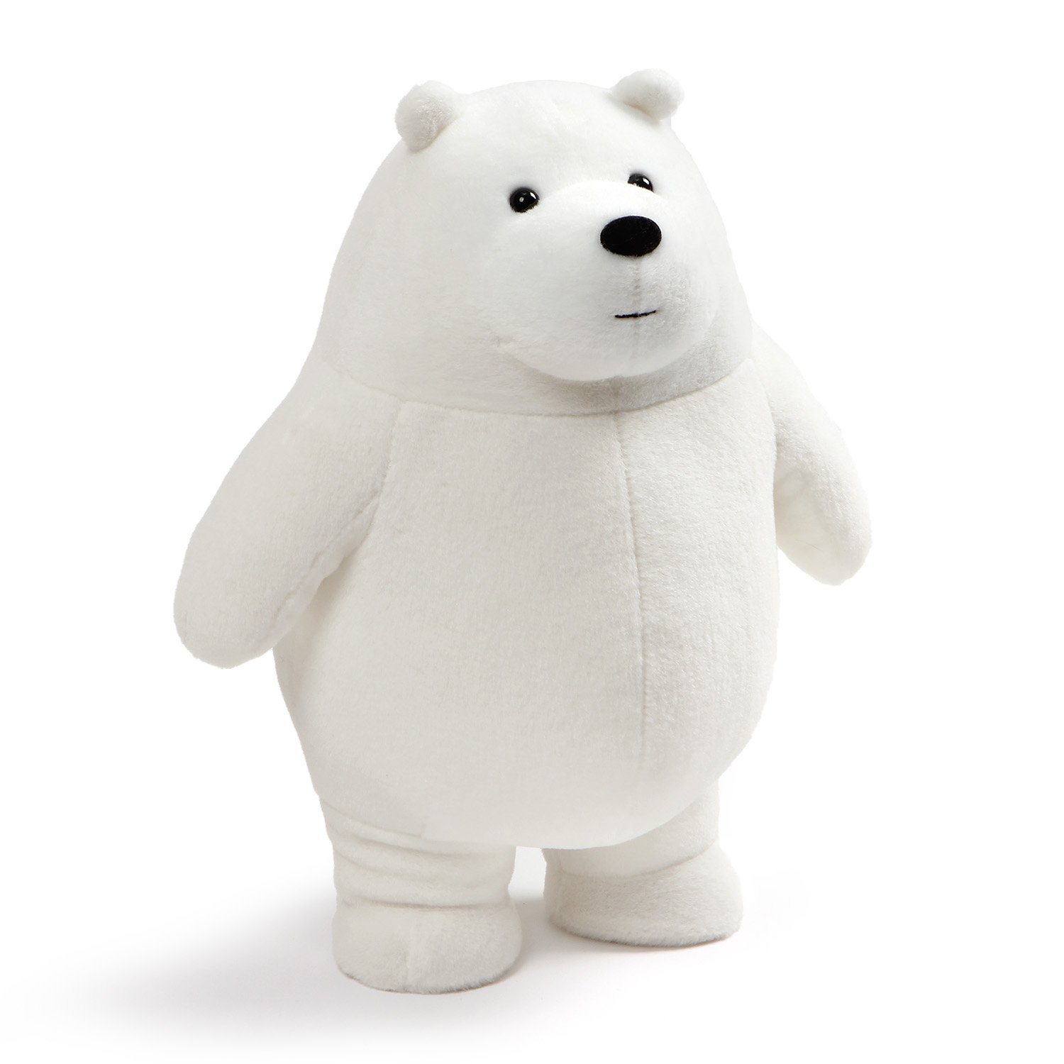 GUND We Bare Bears Standing Ice Plush Stuffed Bear, White, 11''